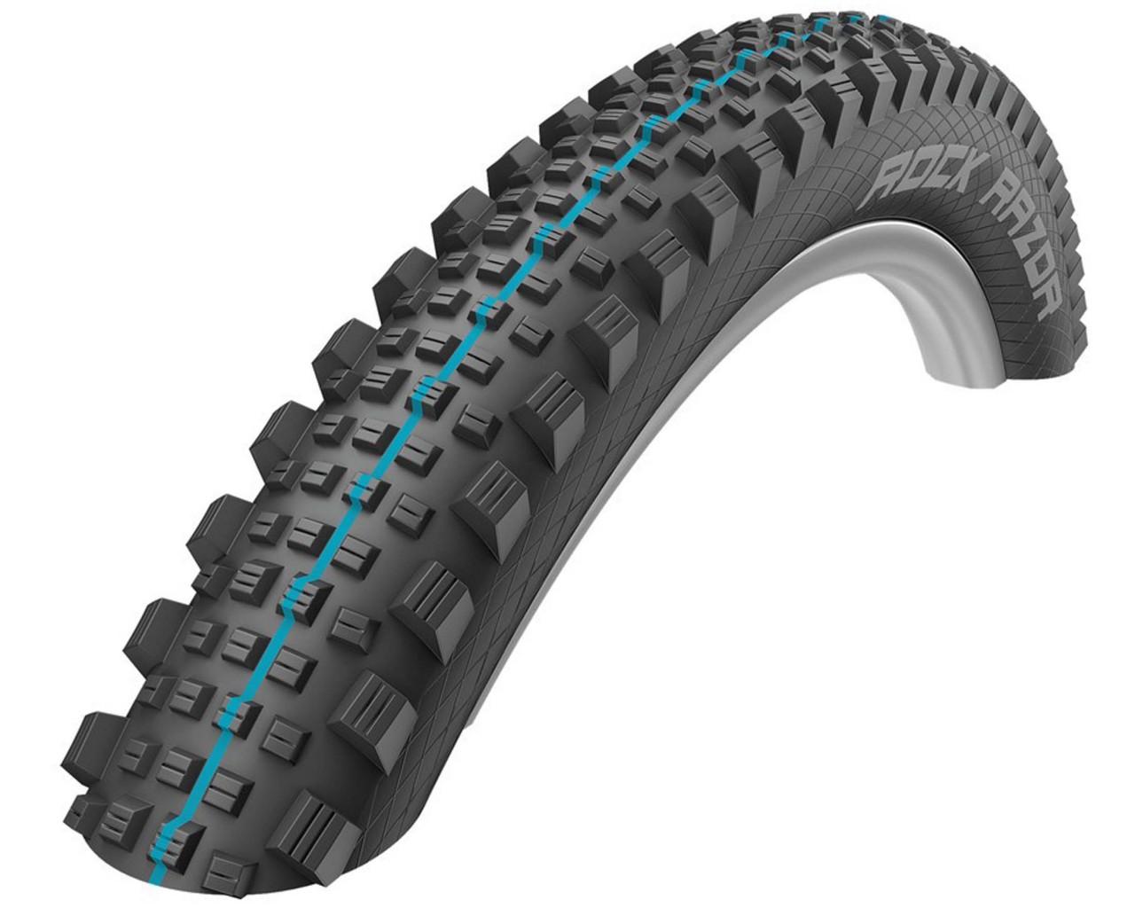 Schwalbe tires Rock Razor Evolution 29 x 2.35 - SnakeSkin, TL-Easy, foldable   black