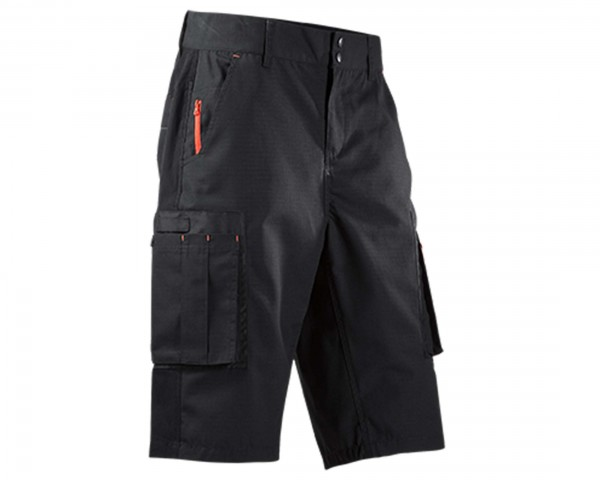 Cube Work Shorts | black-red