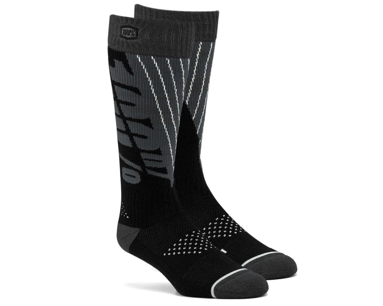 100% Torque Comfort Moto Socken | black-steel grey