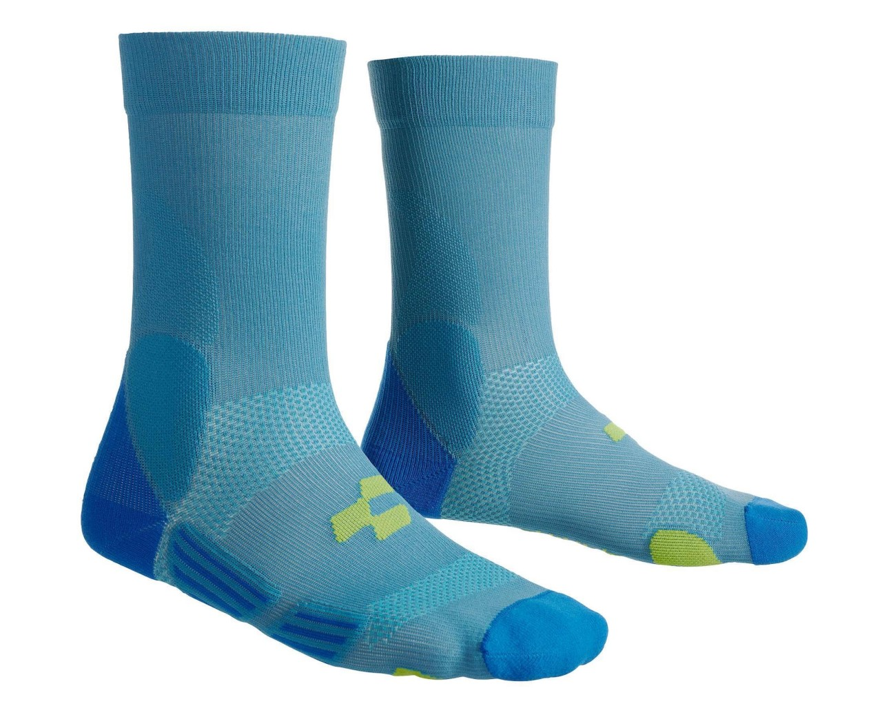 Cube Socke Mountain   blue n lime