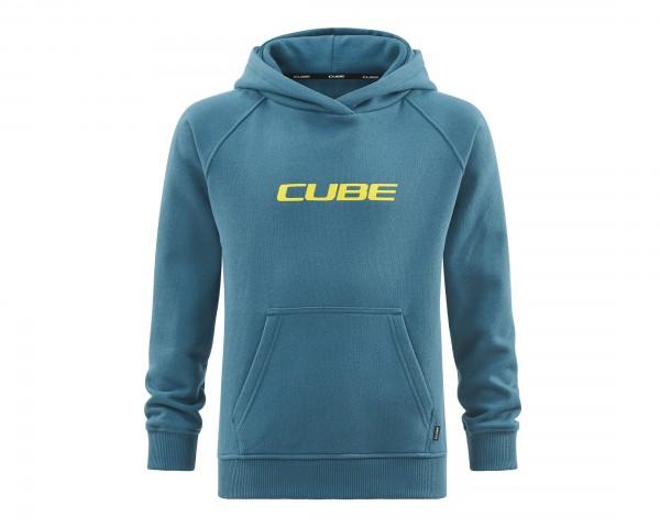 Cube Junior Organic Hoodie | petrol