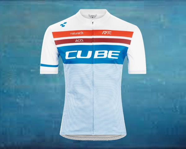 Cube Teamline Jersey Competition shortsleeve | white n blue n red