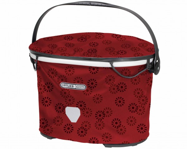 Ortlieb Up-Town Design waterproof Bicycle basket without Mounting Set PVC free | floral
