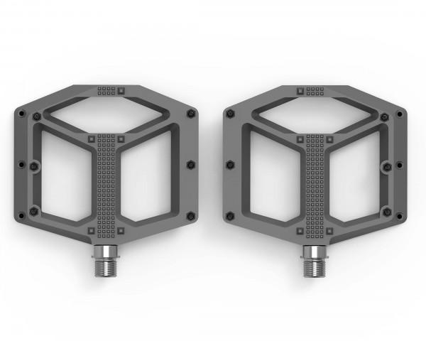 Cube ACID Pedals FLAT C1-IB X Actionteam (pair) | grey n orange