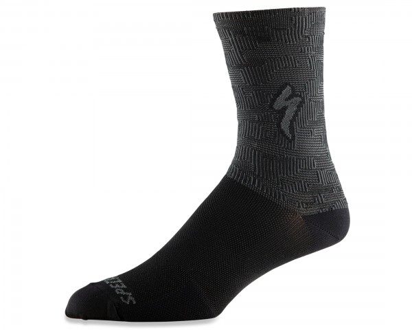 Specialized Soft Air Rennrad Socken lang | black-charcoal terrain