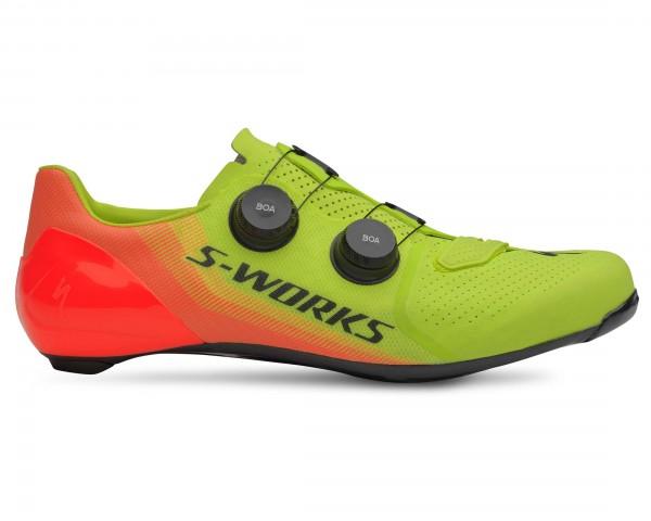Specialized S-Works 7 Rennrad Schuhe | hyper green-acid lava LTD
