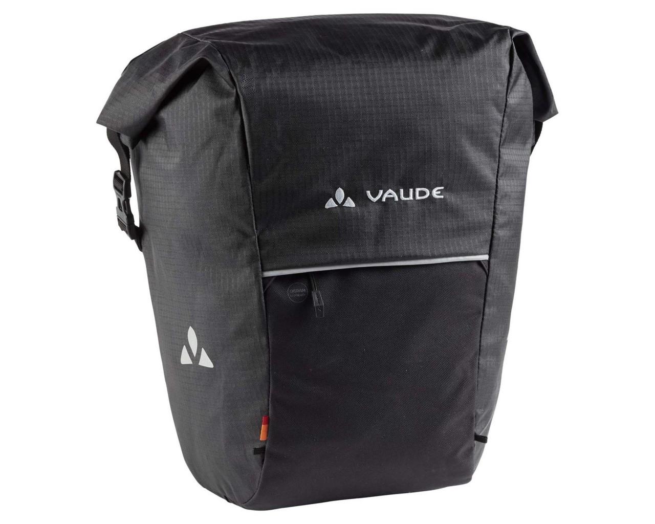 Vaude Road Master Roll-It Waxed 18+4 Liter Fahrradtasche (Einzeltasche)   black
