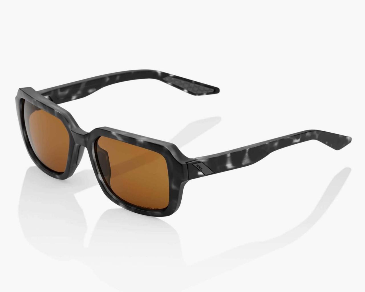 100% Rideley Peak Polar Lens - Sports Sunglasses | matte black Havana