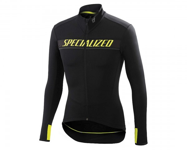 Specialized Element SL Race Jersey Long sleeve | black-neon yellow