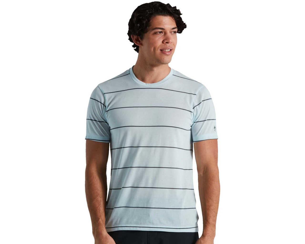 Specialized Trail Stripe Tech T-Shirt | iceblue