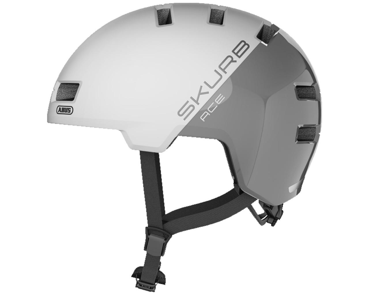 Abus Skurb ACE Bike Helmet | silver white