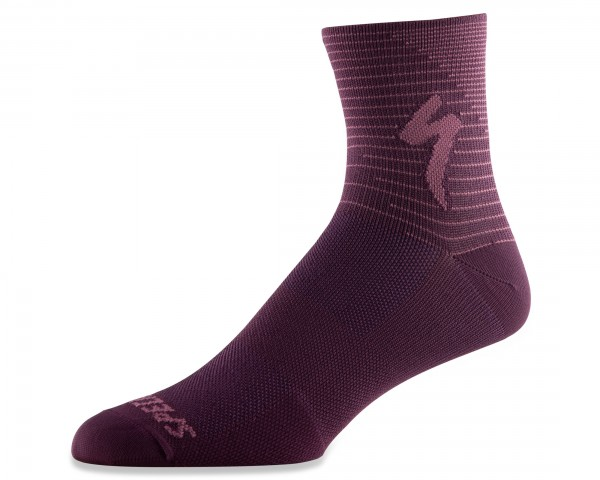 Specialized Soft Air Road Mid Socks | cast berry-dusty lilac arrow