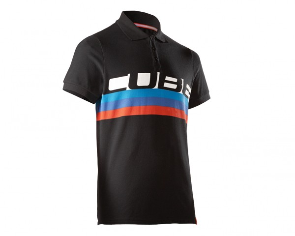 Cube Polo Shirt Cube Stripes | schwarz