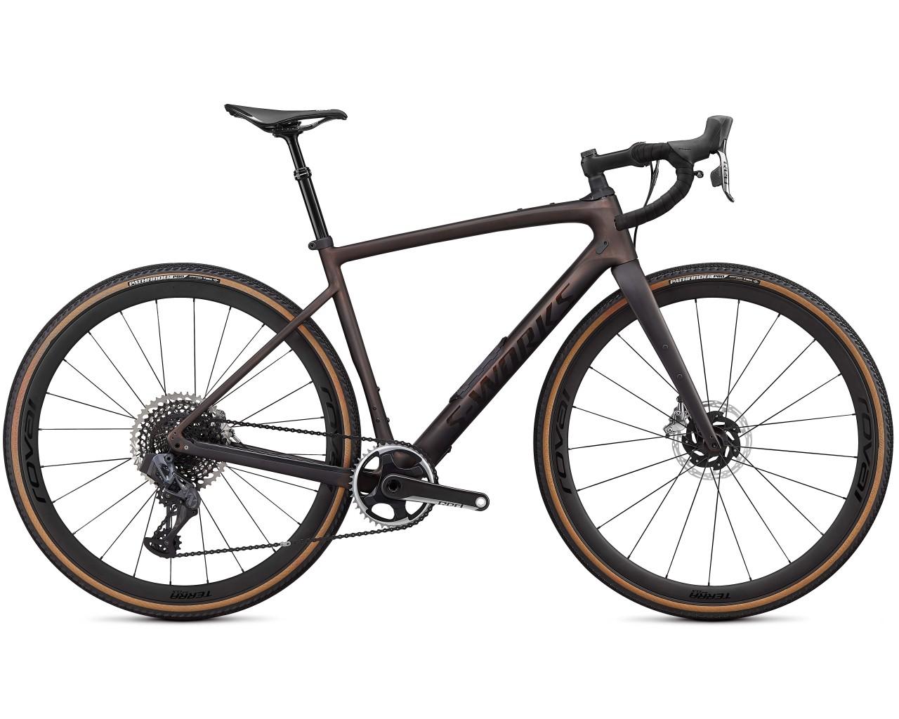 Specialized S-Works Diverge Carbon - Gravel Bike 2021   satin carbon-color run pearl-chrome-clean