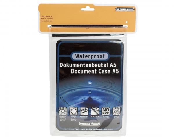 Ortlieb waterproof document bag | transparent - A5