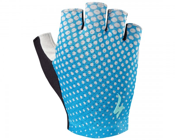 Specialized BG Grail Womens short finger gloves | neon blue-geo crest