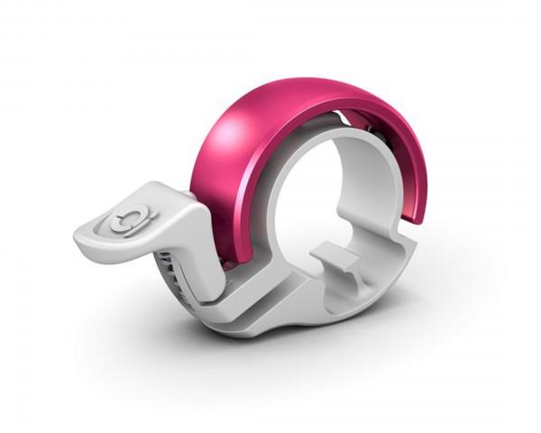 Knog Oi Classic Fahrradklingel - Small | white-pink