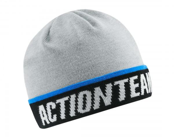 Cube Beanie EDGE X Actionteam | grey n blue