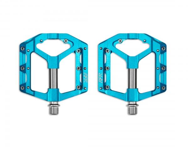 Cube RFR Pedale Flat SLT 2.0 (Paar) | blue n grey