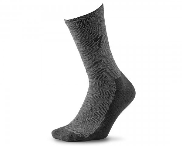 Specialized Primaloft Lightweight Tall Socks | black-charcoal terrain