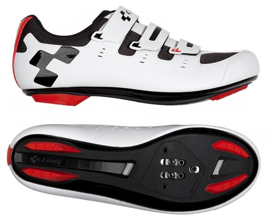 Cube Shoes ROAD CMPT | white n red