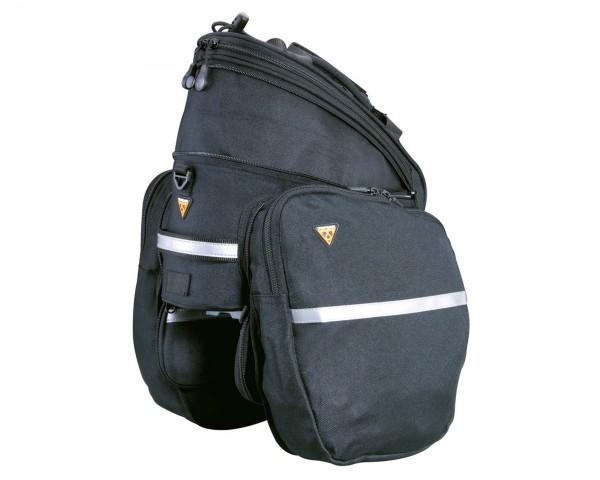 Topeak RX TrunkBag Tour DX - TrunkBag mit Seitentaschen und Vario-Deckeltasche 7.3 l | black