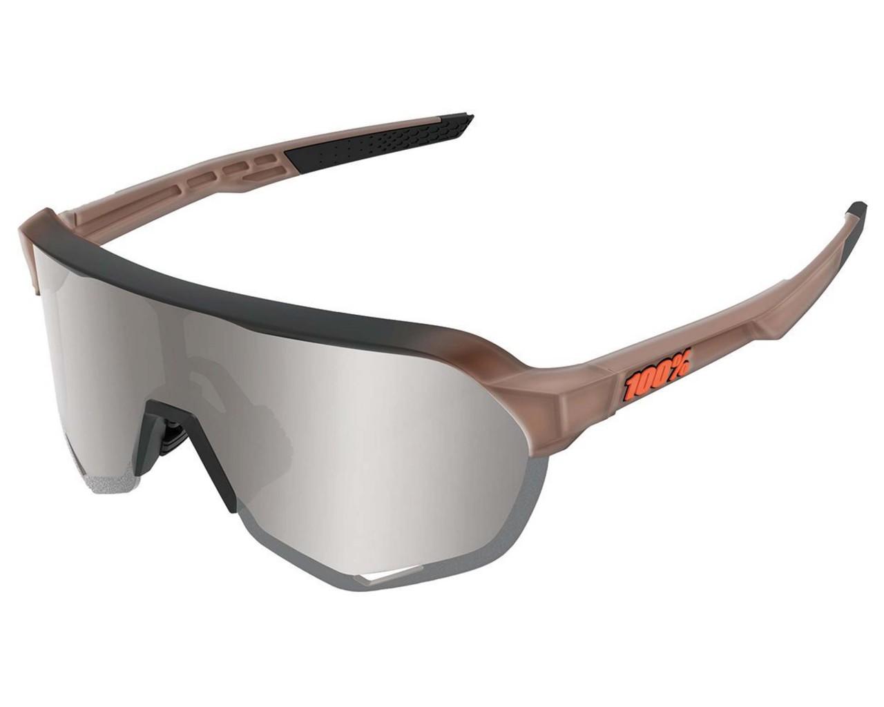 100% S2 - Hiper Mirror Lens Sports sunglasses | matte translucent brown fade