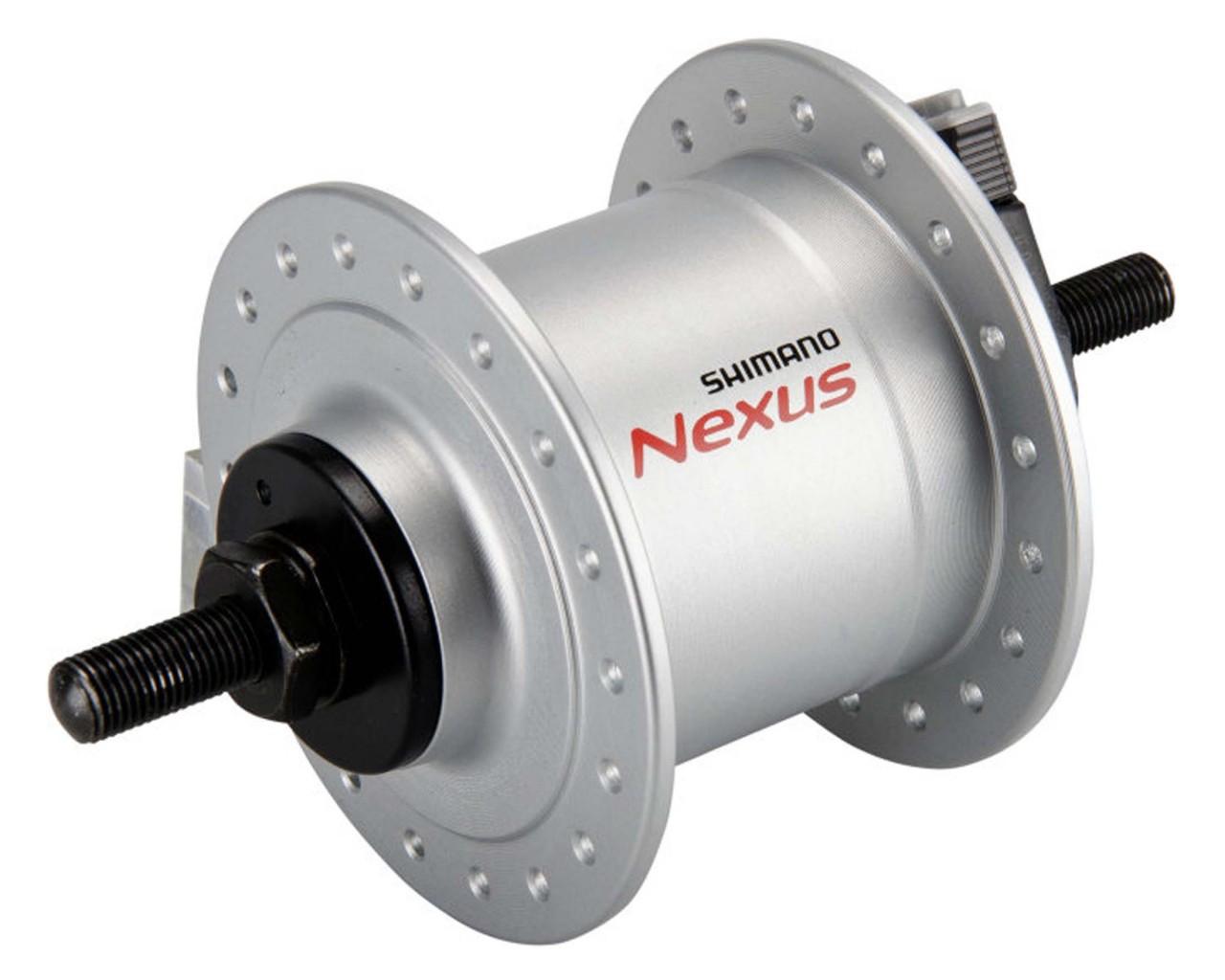 Shimano Nabendynamo NEXUS DH-C3000-1N 1.5 Watt für Felgenbremse - Vollachse 36-Loch | silber