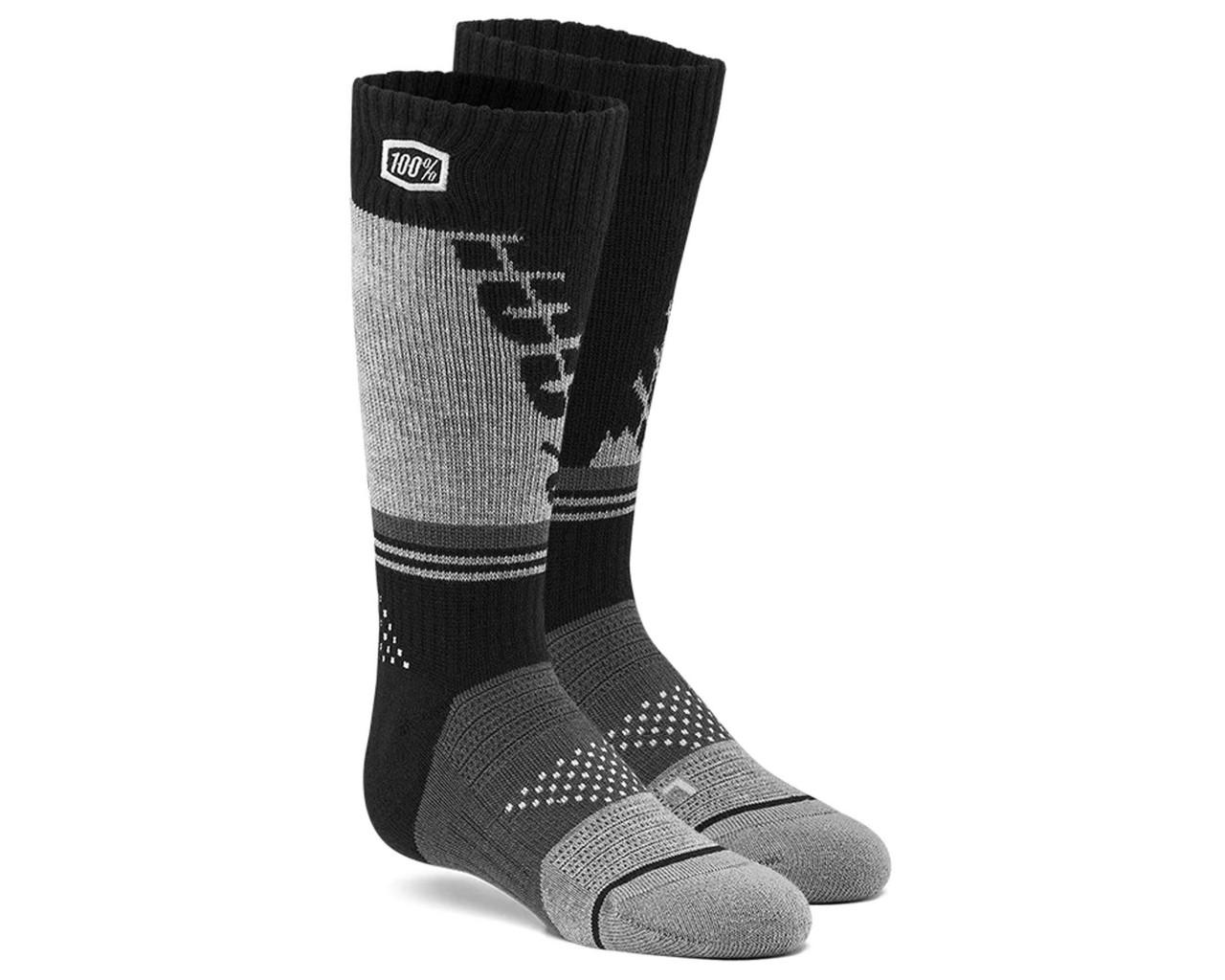 100% Torque Comfort Moto Socks | black-grey