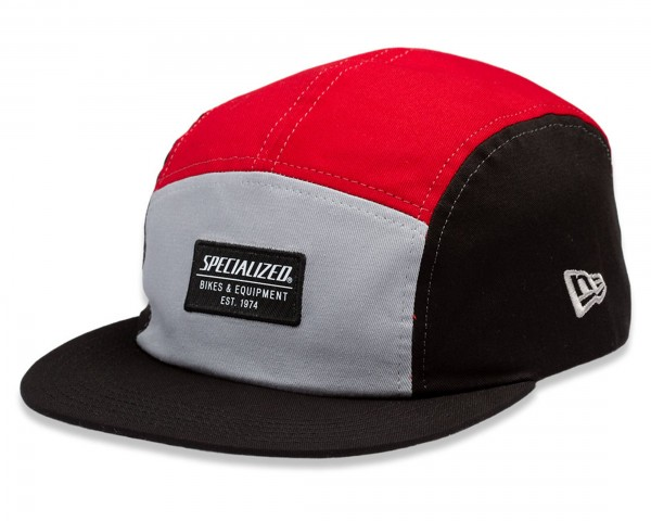 Specialized New Era 5-Panel Hat with Patch | black-red