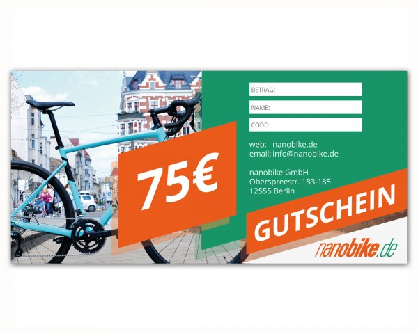 nanobike Voucher 75 EUR