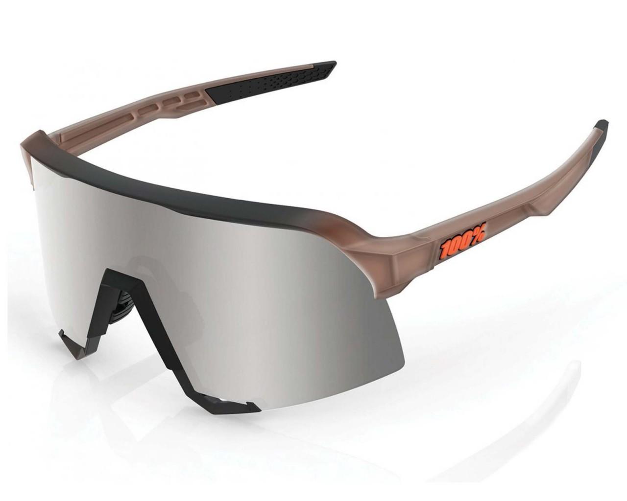 100% S3 - Hiper Mirror Lens sports sunglasses   matte translucent brown fade