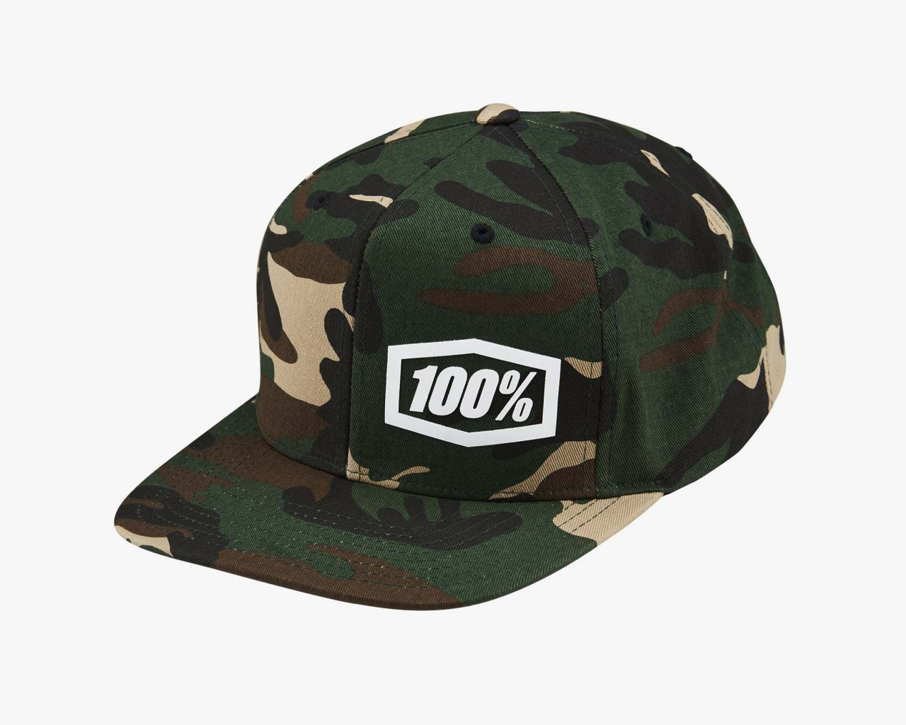 100% Machine 2019 Snapback Hat | camo black-green