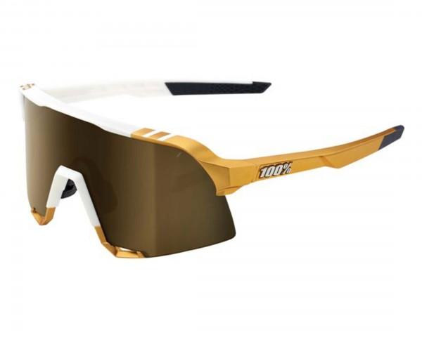 100% S3 - Mirror Rennrad Brille Peter Sagan LTD Edition   white-gold