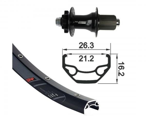 XLC Hinterrad 28/29 Zoll schwarz TA 12 6-Loch Disc | schwarz