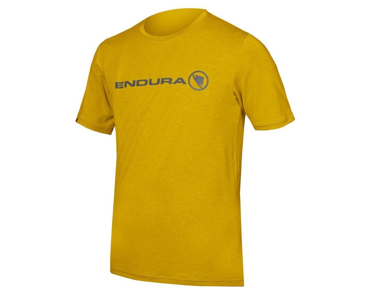 Endura SingleTrack Merino T-shirt | mustard