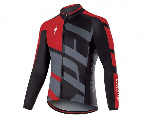 Specialized Element RBX Comp Logo Longsleeve Jersey | red-anthracite