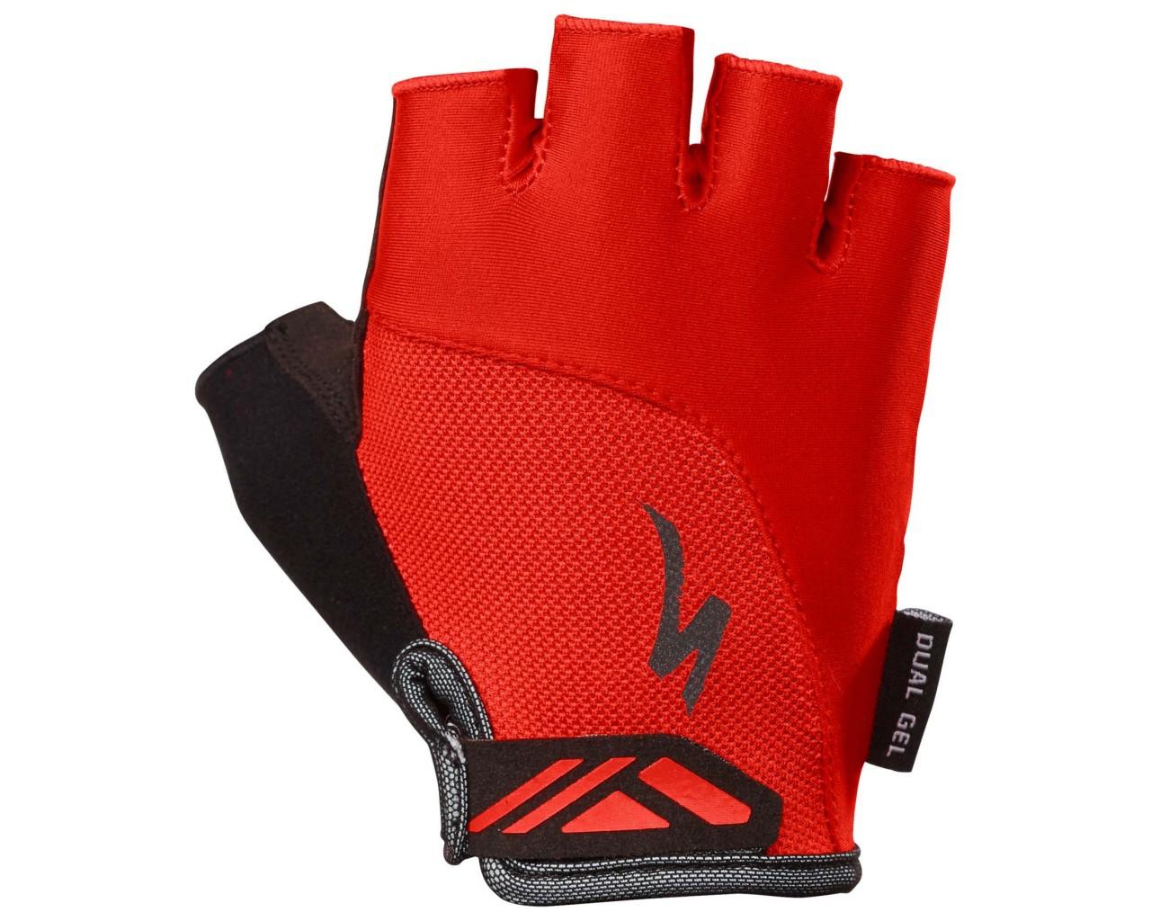 Specialized Body Geometry Dual-Gel Women Gloves shortfinger   red