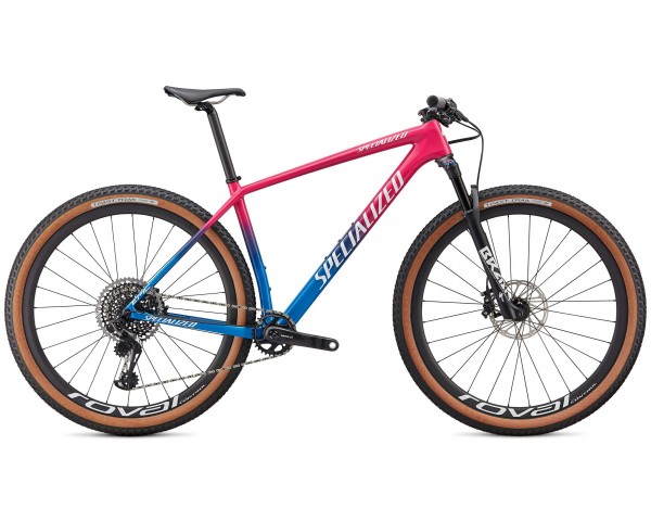 Specialized Epic HT Pro 29 - Carbon Mountain Bike Hardtail 2020 | gloss vivid pink-pro blue-metallic white silver