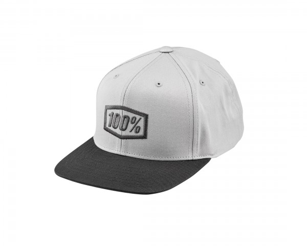 100% Essential Kinder Snapback Hat | charcoal