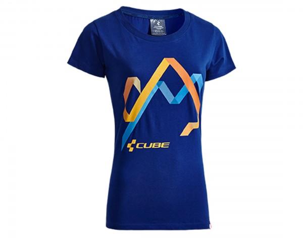 Cube WLS T-Shirt Hills Woman After Race | blue