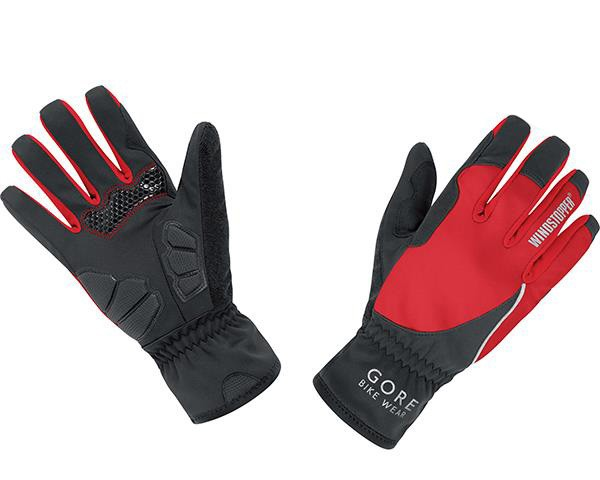 Gore Bike Wear POWER WINDSTOPPER Soft Shell LADY Gloves | black-red