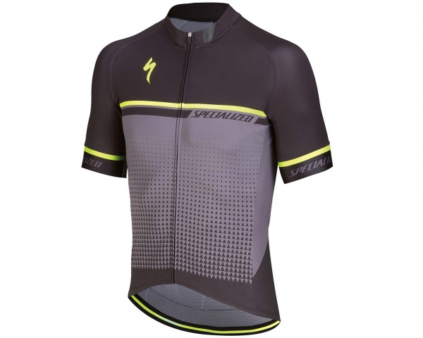 Specialized SL Expert short sleeve jersey | anthracite-neon yellow