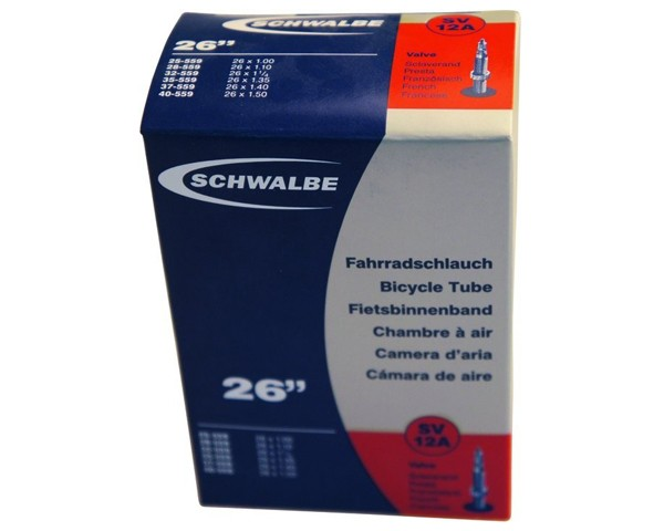 """Schwalbe 26"""" Schlauch SV12A   26x1.125"""" 25/40-559   40 mm Sclaverandventil"""