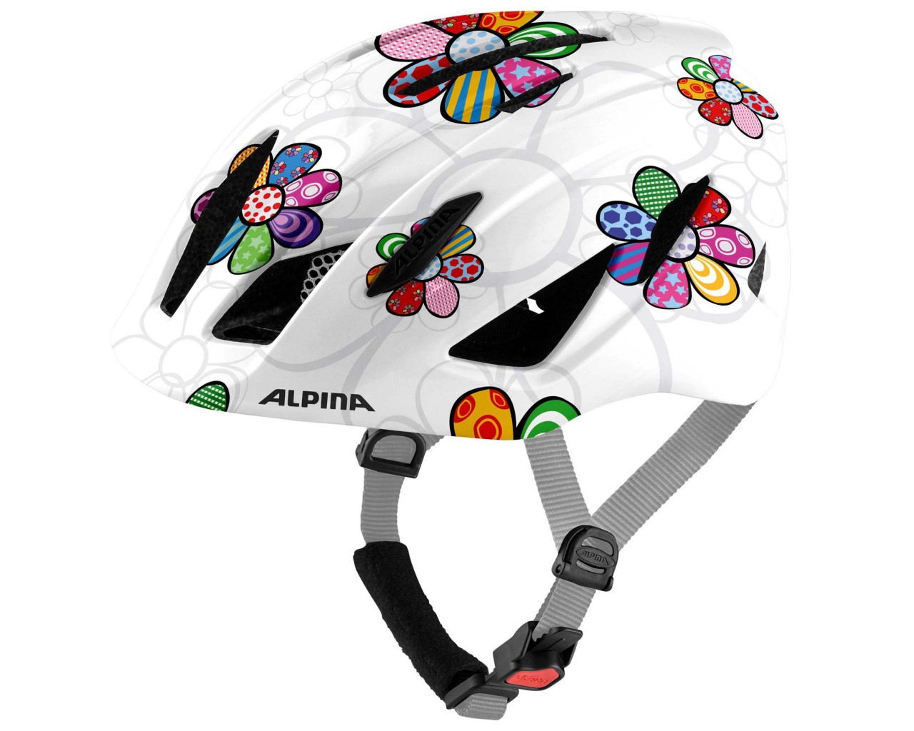 Alpina Pico Kids Bike Helmet | pearlwhite-flower gloss 50-55