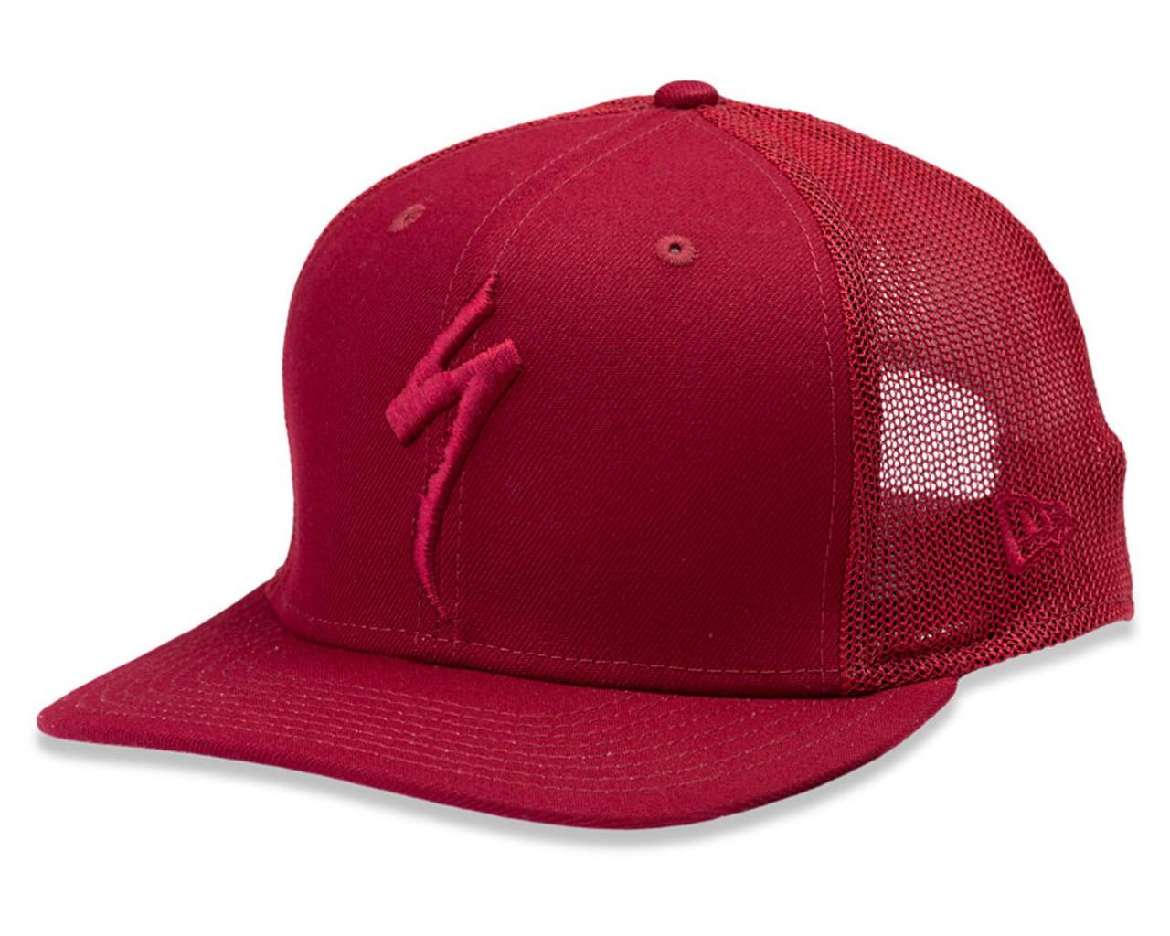 Specialized New Era S-Logo Trucker Hat | crimson