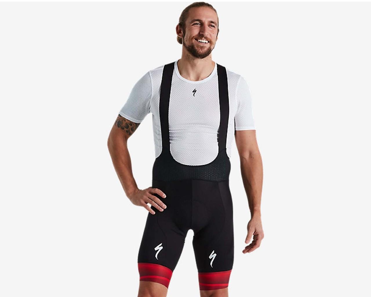 Specialized SL Road Team Bib Shorts   black-red