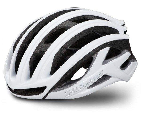 Specialized S-Works Prevail II Vent Helmet with ANGI & MIPS | matte gloss white-chrome