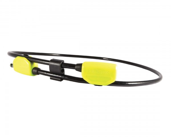 Hiplok POP, 1.3m Wearable Steel Cable Lock - tragbares Kabelschloss   lime