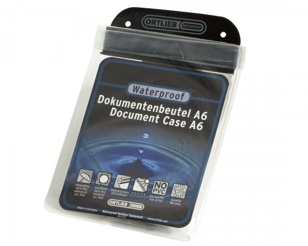 Ortlieb waterproof document bag   transparent - A6